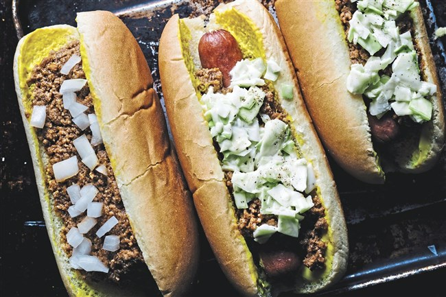 "Chili Buns and Slaw Dogs from ""Victuals: An Appalachian Journey, With Recipes"" by Ronni Lundy."