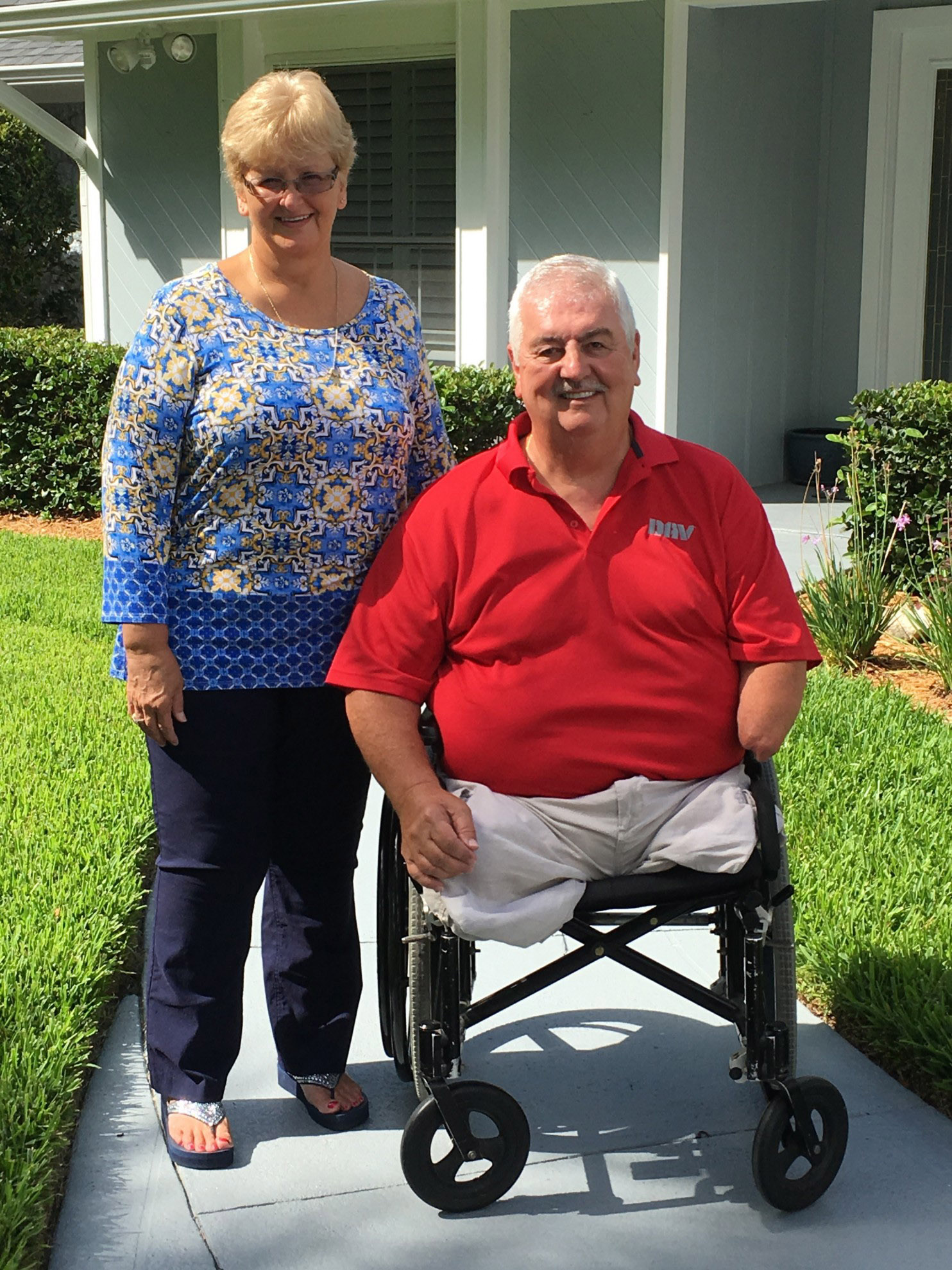 FEDERAL-INSIDER Donna and Dennis Joyner, who lost his legs and part of his left arm in Vietnam in 1969.