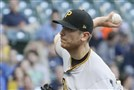 Chad Kuhl throws Tuesday. Pirates manager Clint Hurdle says it takes time for young starters to settle in at the major league level.
