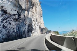 The photo of the tight mountain road: The Riviera has some of the most breathtaking scenery in the world, but it's accompanied by some of the most panic-inducing roads and highways, like this road near Villefranche-Sur-Mer.