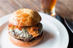 Smoked 'Shroom & Swiss Burger is Cioppino's entry for the Blended Burger Project competition.