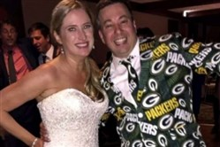 Ryan Holtan-Murphy and Marie Packer's Green Bay Packers-themed wedding doesn't hold a candle to the times Pittsburghers incorporated the Steelers into their big days.
