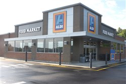 The exterior of the newly renovated Aldi location in Robinson.