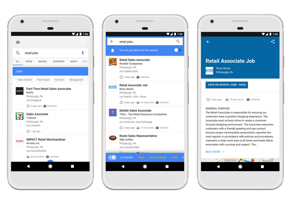 Googles newest vertical could disrupt the job recruitment the newest google vertical google for jobs features a streamlined curated list of kristyandbryce Choice Image