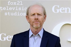 "In this April 24, 2017 file photo, filmmaker Ron Howard arrives at the premiere of ""Genius"", in Los Angeles. Howard is taking command of the Han Solo ""Star Wars"" spinoff after the surprise departure of directors Phil Lord and Christopher Miller."