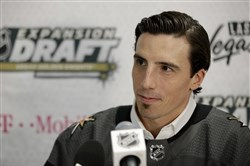 Vegas selected Marc-Andre Fleury in June's expansion draft. The Golden Knights face the Penguins later this week.