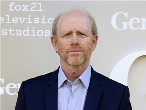 "In this April 24, 2017 file photo, filmmaker Ron Howard arrives at the premiere of ""Genius"", in Los Angeles. Howard is taking command of the Han Solo ""Star Wars"" spinoff after the surprise departure of directors Phil Lord and Christopher Miller."