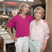 Linda Massaro, left, and her mother, Carol, at The Longest Table, an event supporting the Joseph A. Massaro Alzheimer's Research Foundation.