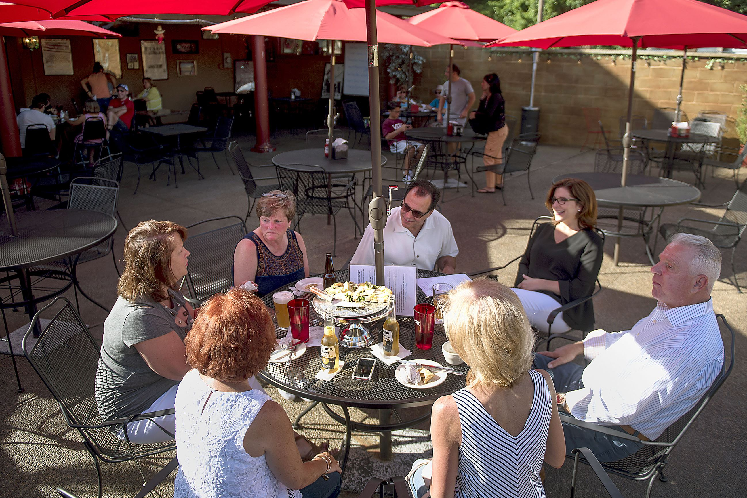 20170624hnOutDining-3-2 A group of St. Thomas High School graduates of 1977 have a reunion at Portogallo Peppers N'at on Saturday, June 24, 2017 in Braddock.