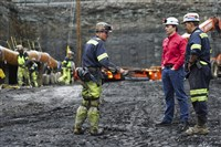 In the U.S., the bulk of the increase occurred in major coal-producing states including Wyoming, Pennsylvania and West Virginia. Above, Corsa CEO George Dethlefsen in red speaks to workers at a new Corsa coal mine in Friedens, Somerset County.