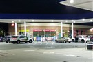 Police were gathered at the GetGo gas station and market on Freeport Road early Tuesday morning as part of their investigation into three stolen cars.