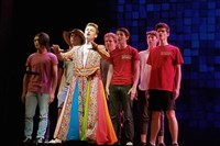 "Jake Pedersen of Pine-Richland High School competes as Joseph in ""Joseph and the Amazing Technicolor Dreamcoat"" at the national high school musical theater Jimmy Awards Monday, June 26, at Broadway's Minskoff Theatre."