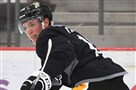 Freddie Tiffels, a native of Germany, is trying to make an impression at development camp this week at UPMC Lemieux Sports Complex in Cranberry.