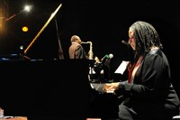 Pianist Geri Allen, director of jazz studies at the University of Pittsburgh, performs with the MCA Power Trio, which consist of Allen, drummer Terri Lynne Carrington and saxophonist David Murray during the 13th running of the Panama Jazz Festival in Panama City Panama in 2016.