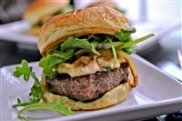 Goat Cheese-Stuffed Lamb Burgers