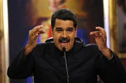 In this June 22 file photo, Venezuela's President Nicolas Maduro gives a news conference in Caracas, Venezuela.