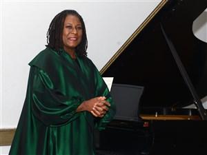 Nate Guidry/Post-Gazette. 20151107. University of Pittsburgh jazz Studies director and pianist Geri Allen performs at the University of Pittsburgh in 2016.