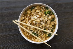 The vegetarian Shiitake Mushroom & Roasted Tofu is one of the Broth Bowl options, and includes ginger, lemongrass, kale and almonds.