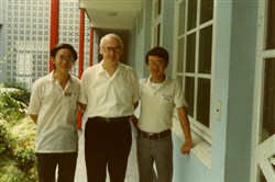 Archabbot Paul R. Maher served as Prior at Wimmer Priory in Taipei with 2 students from Fu Jen University in Taiwan.