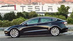 Electric automaker Tesla has produced its first Model 3 sedan, a highly anticipated car because it carries a relatively low sticker price