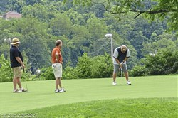 Golfers enjoy the day at the first Hope for Ghana golf outing.