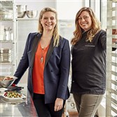 Jennifer Shearer, right, with Amanda Freitag last month at the General Mills headquarters in Minneapolis.