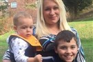 Jessica Vecchiola and her children, Jordan and Lucas, then 10 and 2, in March 2016.