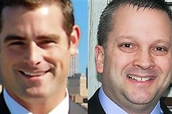 State Rep. Brian Sims, left, and state Rep. Daryl Metcalfe