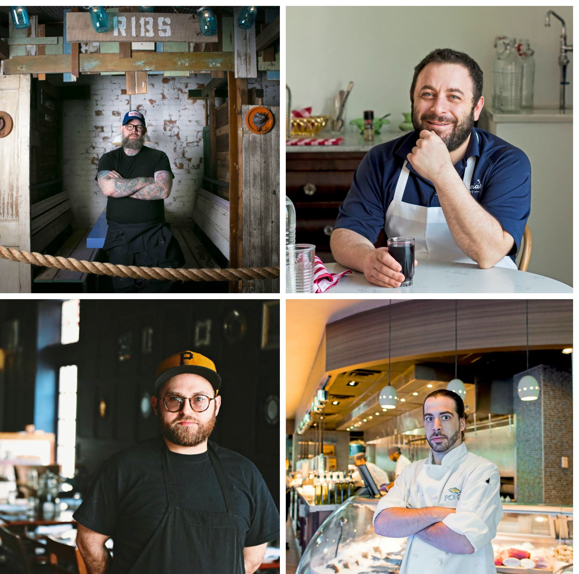 lamb chef 3 Clockwise from top left: Keith Fuller, Pork and Beans; Dave Anoia, DiAnoia's Eatery Will Randall, Poros; Brandon Blumenfeld, Scratch F&B