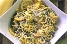 Yellow Squash Pasta with Caramelized Lemon goes well with grilled meat or poultry.