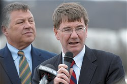 U.S. Rep. Keith Rothfus speaks during a 2016 event at the Emsworth Lock and Dam.