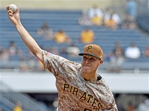 Jameson Taillon struck out eight Brewers in his start for the Pirates Thursday at PNC Park.