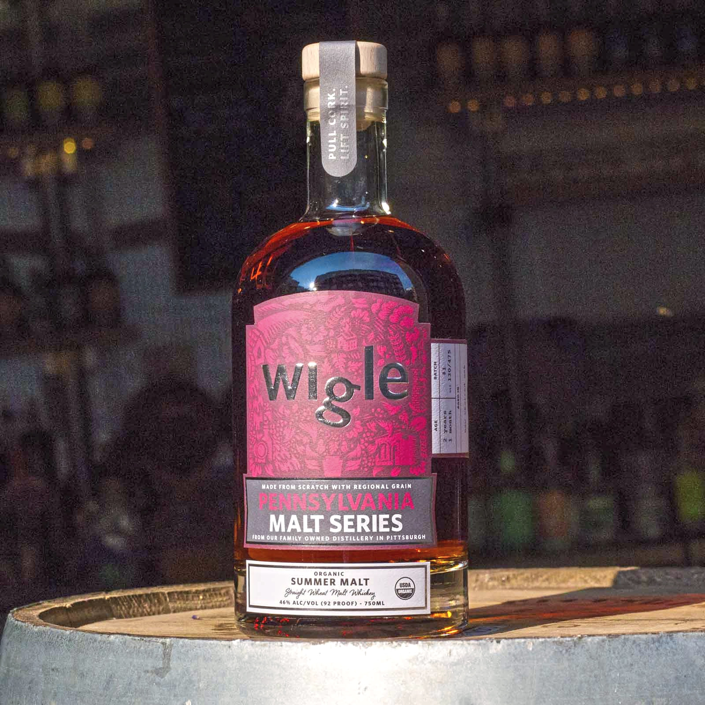 wigle whiskey summer malt 2-1 Wigle Whiskey will release the new Summer Malt Whiskey at its Renaissance Pierogi Festival Friday.