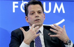In this Jan. 17, 2017 file photo, New York financier Anthony Scaramucci speaks at the World Economic Forum in Davos, Switzerland.
