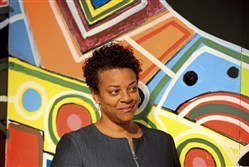 Janis Burley Wilson new CEO and president of the August Wilson Center on Thursday.