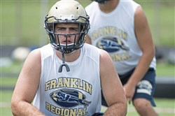 Franklin Regional's Bryce Lauer is a two-way starter hoping to impress some more college coaches with his play this season.