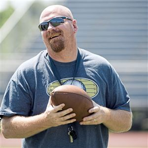 2017 TAB Butler head coach Rob Densmore stands during a preseason conditioning session on Tuesday, July 18, 2017 at Butler High School. Billy Myland confirmed on Monday that Densmore resigned.