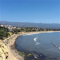 Santa Barbara's scenic coastline is filled with beaches fringed by rows of palm trees and sheltered waters.