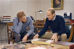 "Prince Harry of Wales, left, and Prince William, duke of Cambridge, discuss their late mother in the HBO documentary ""Diana, Our Mother: Her Life and Legacy."""