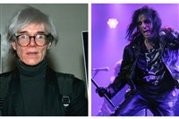 Artist Andy Warhol and rock singer Alice Cooper.