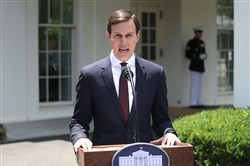 White House Senior Adviser and President Donald Trump's son-in-law Jared Kushner reads a statement in front of the West Wing of the White House on July 24, 2017. Earlier on, Kushner testified behind closed doors to the Senate Intelligence Committee about Russian meddling in the 2016 presidential election.