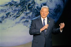 "Former Vice President Al Gore giving his updated presentation in Houston, Texas, in ""An Inconvenient Sequel: Truth To Power,"" which opens Aug. 4."