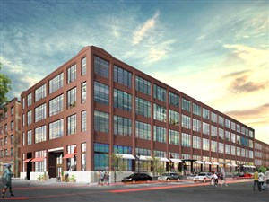 An artist's rendering of McCaffery Interests' vision for an nearly vacant warehouse across Smallman Street from the Strip District's produce terminal. The project, which is called 1600 Smallman, includes 140,000 square feet of office space. The Jones Lang LaSalle real estate firm is marketing the building.