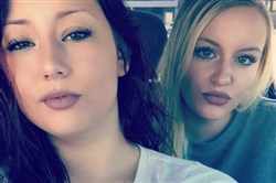 Paige Nicole Smith, left, and Brooke Molnar were victims in a crash Tuesday on Library Road in Bethel Park. Ms. Smith was killed in the crash and Ms. Molnar was critically injured.