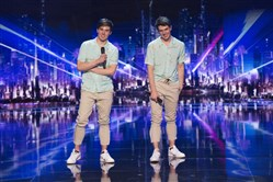 "Mirror Image's Colton Edwards and twin Trent Edwards on Tuesday's episode of ""America's Got Talent."""