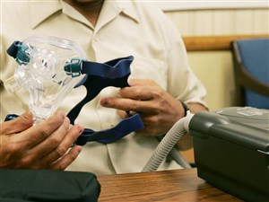 A continuous positive airway pressure, CPAP, device.