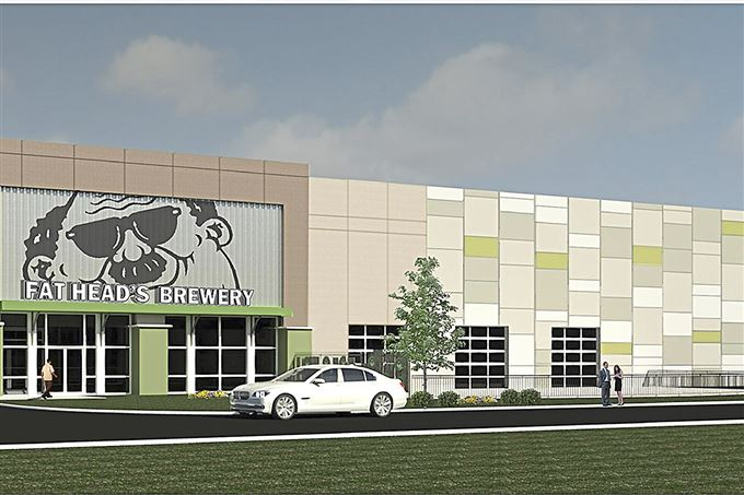 Conceptual rendering of new Fat Head's brewery in suburban Cleveland.