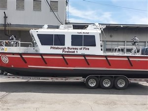 The city's new fireboat, named after the late former Mayor Sophie Masloff.