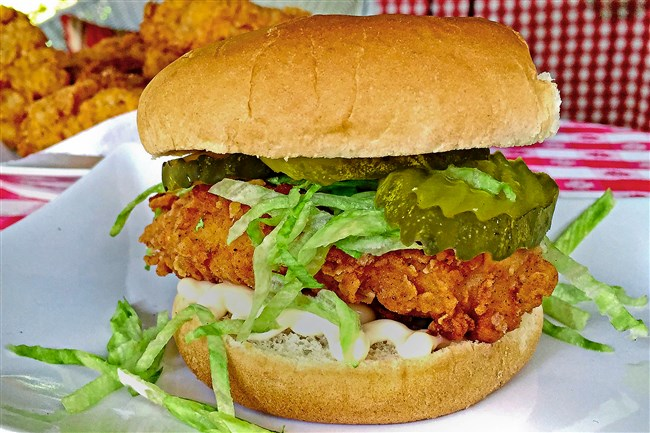 "Chick'n Shack Sandwich comes from the cookbook ""Shake Shack: Recipes & Stories."""