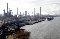 The Sunoco oil refinery in Philadelphia on Jan. 6, 2012.